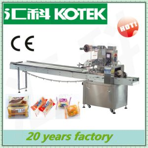 Horizontal Flow Baguettes Packing Equipment Pillow Pack Automatic Toast Bread Packaging Machinery pictures & photos