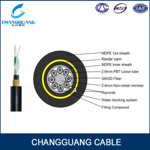 ADSS Singlemode 24 Core Aerial Fiber Optic Cable Manufacturer pictures & photos