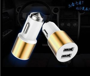 Quick Charging Dual-Port USB Mini Portable Safety Hammer Car Charger 5V 2.1A 1 Year Warranty pictures & photos