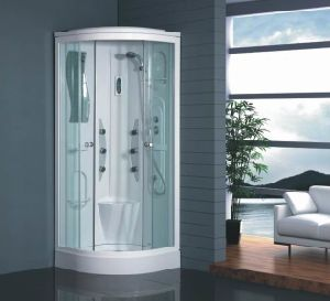 New Corner Shower Room Shower Cabin with Sliding Glass Door