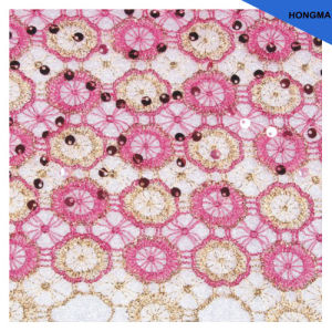 New 100% Polyester Lace Fabric