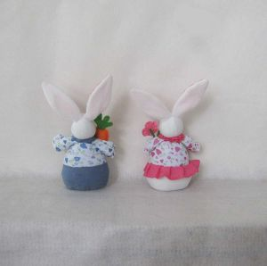 Boy and Girl Bunny Easter Decoration Gift-2 Asst pictures & photos