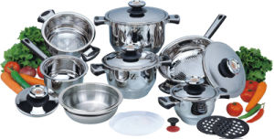 High Quality 16PCS Stainless Steel Cookware Set (CS116002) pictures & photos