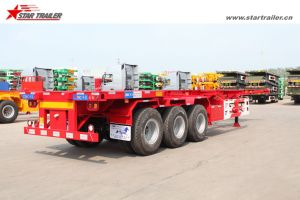 40FT Skeleton Container Transporter Semi Trailer for Sale pictures & photos