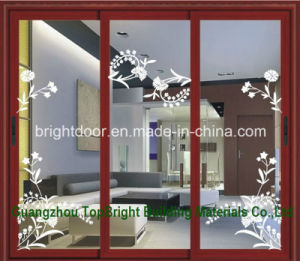 Aluminum Energy Efficient Double Glazed Sliding Door for Hall pictures & photos