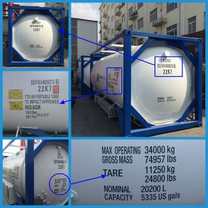 2015 Hot Selling Cryogenic Liquid Tank Container (SEFIC-T75) pictures & photos