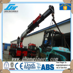 Knuckle Telescopic Boom Outtrigger Truck Mounted Crane pictures & photos