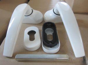White Color Aluminum Alloy Door Level Handle pictures & photos