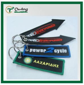 Fashion Keychain With Embroidery Logo