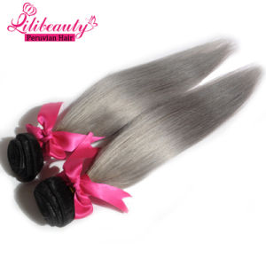 High Quality Ombre Color Remy Hair Weaves Peruvian Straight Human Hair pictures & photos