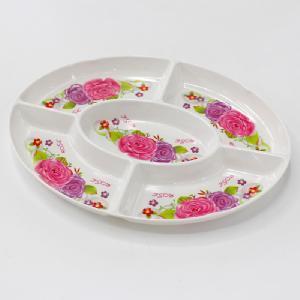 10 Cun Melamine Elliptical Dish with Five Grids pictures & photos