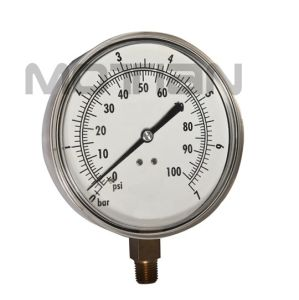 4.5 Inches Stainless Steel Shell Surface Pressure Gauge