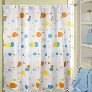 Hot Sale Bathroom Shower Curtain with Hooks pictures & photos
