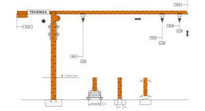 Truemax Tower Crane Hoist Crane (TCP4010) pictures & photos