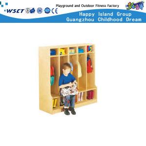 School Bag Ark Preschool Wooden Kids Schoolbag Cabinet for Kids Wooden Role Play (HC-3011) pictures & photos