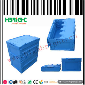 Folding Collapsible Plastic Crate with Lid for Storage pictures & photos