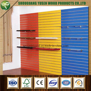 18mm Melamine Covered Slatwall MDF Slot Board Slotwall MDF pictures & photos