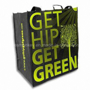 PP Stitched Non Woven Bag Handle Sewing to Bottom Logo Printing Non Woven Lamination Bag pictures & photos