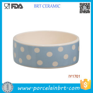 Wholesale Blue and White Wave Point Ceramic Pet Bowl pictures & photos