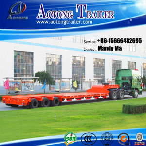 Tri-Axle 50 Tons Low Bed Semi Trailer pictures & photos
