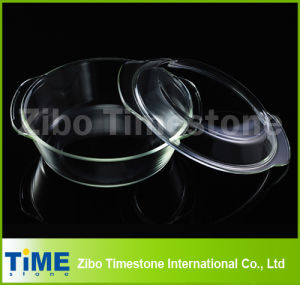 Crystal Clear Hot Sale Borosilicate Glass Baking Dish, Glass Roasting Dish (TM011501) pictures & photos