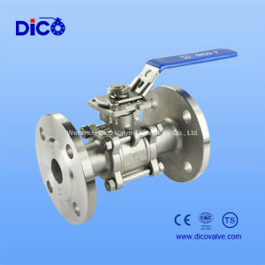 API Stainless Steel 3PC Ball Valve with ISO5211 Mounting Pad pictures & photos