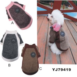 Yj79419 Warm Dog Soft Playing Outdoor Winter Clothes pictures & photos