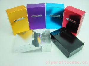Aluminum Cigarette Case with Magnet Button (2548)