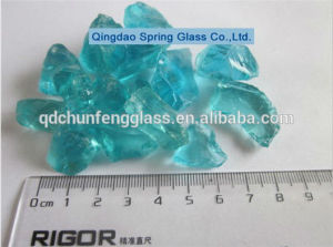 Little Size Aqua Clear Glass Rocks pictures & photos