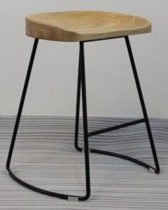 Steel Wooden Bar Stool 707-H45-Stw