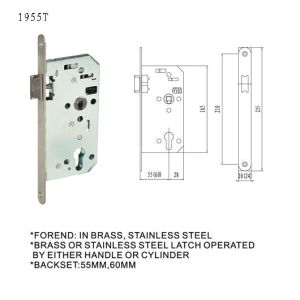 EU German Door Handle Lock Body Mortise Lock pictures & photos