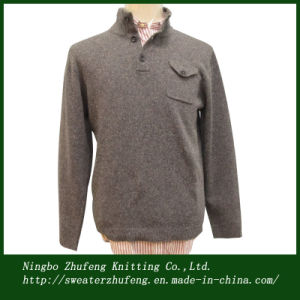 Men′s Mock Neck Pullover Sweater Nbzf0037