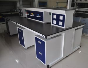Professional Lab Furniture Lab Island Bench with Movable Cabinet pictures & photos
