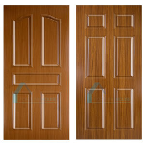 Moulded HDF Melamine Door Skins with Sapelli and Red Wood Color pictures & photos