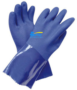 PVC Sandy Coated Chemical Resistant Work Glove