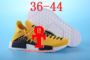 "Double Box Pharrell′s Nmd ""Human Race"" Runner Shoes Yellow Hu Man Special Being Nmd Size 13 Nmds Boost Running Shoes Orange Black Red pictures & photos"
