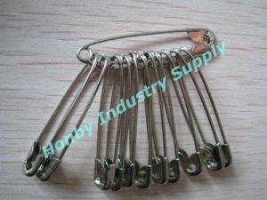 Haberdashery Garment Label 55mm Silver Metal Safety Pins