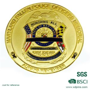 Custom Souvenir Coin with Imitation Enamel Finished pictures & photos