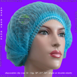 Nonwoven/PP/Medical/Surgical/Protective/Operation/Space/Disposable Surgeon Cap, Disposable Round Cap, Disposable Hood with Face Mask, Disposable Astronaut Cap pictures & photos
