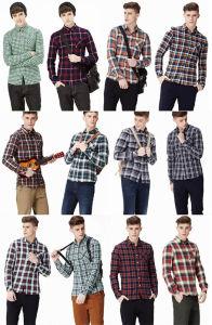Fashion 100% Cotton Woven Men′s Shirt with Plaid Print pictures & photos