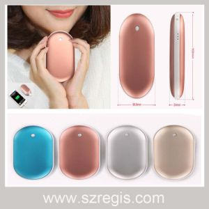 5000mAh Two Side Hand Warmer Mini Mobile Phone Power Bank pictures & photos