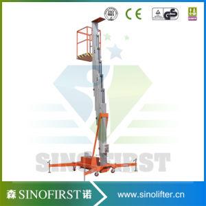 6m to 10m Aerial Aluminum Single Mast Lift Table Platform pictures & photos