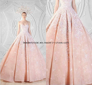 Fashion Pink Ball Gowns Applique Sweetheart Bridal Wedding Dresses Z5054 pictures & photos