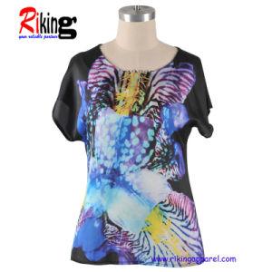 Fashion Ladies Apparel of Digital Printing T Shirt (RKA1303)