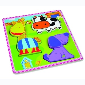 Wooden Puzzle for Baby with Farm Animals (80631-3) pictures & photos