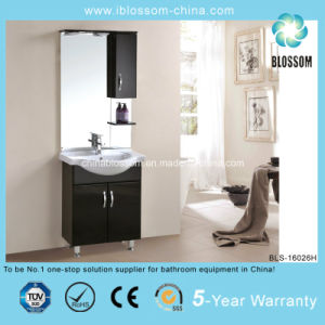 Elegant Black Color Home Furniture Bathroom Vanity (BLS-16026H) pictures & photos