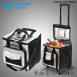 Picnic Ice Can Insulated Lunch Wheel Wine Cooler Bag