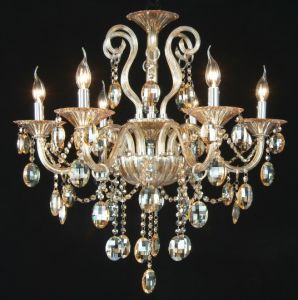 Amber Crystal Chandelier Lights (KD8005-6) pictures & photos