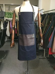 China Factory Black Work Denim Leather Apron for Sale pictures & photos