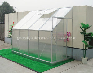 Polycarbonate and Aluminium Lean-to Greenhouse (LW410) pictures & photos